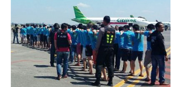 92 Wna Pelaku Penipuan Online Yang Diangkap Di Surabaya