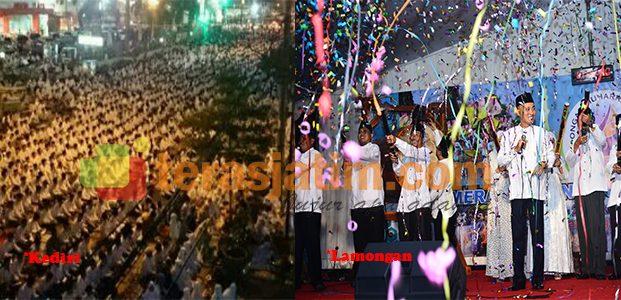 Meriahnya Perayaan 1 Muharram di Kediri dan Lamongan
