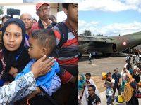 121 Perantau dari Wamena Tiba di Bandara Abdul Rachman Saleh Malang