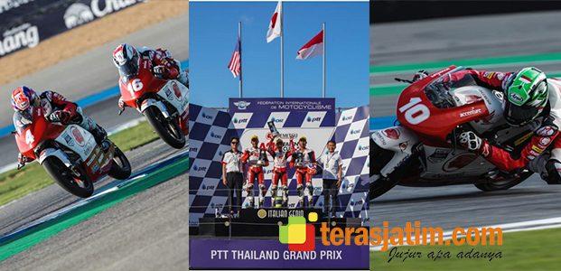 2 Pebalap Astra Honda Kibarkan Merah Putih di ATC Thailand