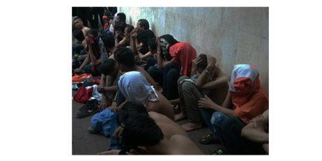 27 Tersangka Aksi Perusakan Kendaraan di Suramadu Ditahan di Mapolda Jatim