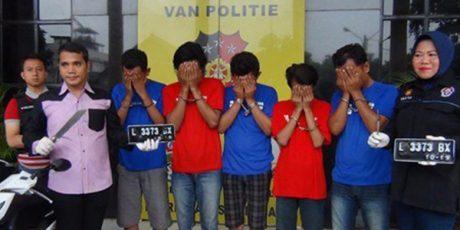 5 Anggota Komplotan Begal, Kembali Digulung Tim Anti Bandit