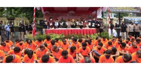 Hasil Operasi Tumpas Narkoba Semeru 2021, Polrestabes Surabaya Kandangkan 120 Tersangka