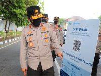 Mulai Hari Ini, Masuk Markas Polisi Wajib DonwLoad Aplikasi PeduliLindungi