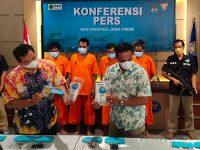 Komplotan Pengedar Sabu Jaringan Surabaya-Lamongan Dicokok