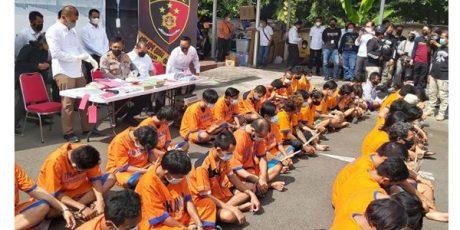 Ditreskrimum Polda Jatim Kandangkan 67 Tukang Palak