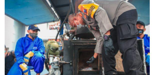 Polrestabes Surabaya Musnahkan BB Narkoba Senilai Rp 70 Miliar