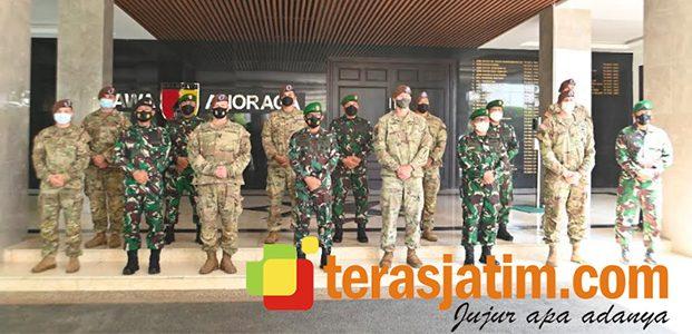 Pangdam Terima Kunjungan Sejumlah Personel US Army