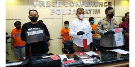 Jatanras Polda Jatim Tangkap Komplotan Pembuat dan Penjual Surat Hasil Rapid Test Palsu