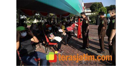 Kejati Jatim Gelar Vaksinasi Covid-19 di Islamic Center Surabaya