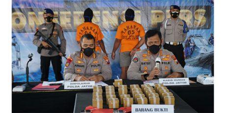 Ditpolairud Polda Jatim Ungkap Kasus Jual Beli Ribuan Bom Ikan di Pelabuhan Situbondo