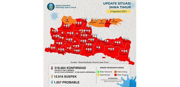 Ini Daftar Wilayah di Jatim Yang Menerapkan PPKM Level 4 dan 3