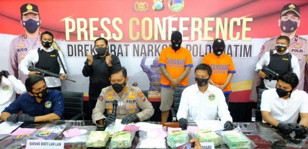 Ditresnarkoba Polda Jatim Ungkap Peredaran Sabu Seberat 6 Kilogram