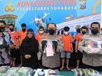 Satresnarkoba Polretabes Surabaya Gagalkan Pengiriman 20,5 Kg Sabu dari Medan