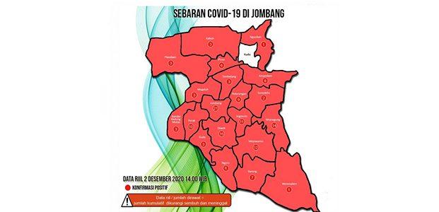 Kabupaten Jombang Kembali Berstatus Zona Merah Covid-19