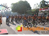 Hari Jadi Provinsi Jawa Timur Ke-75, Pemkab Jombang Gelar Gowes Bareng