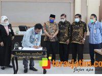 DPMD Jombang Lakukan MoU dengan STIE PGRI Dewantara