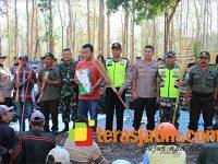 Antisipasi Karhutla, TNI-Polri di Lamongan Keliling Sambangi Hutan