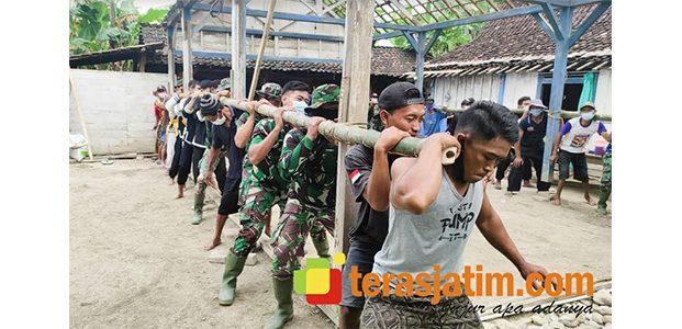 Tak Hanya Fisik, TMMD Kodim Bojonegoro Juga Bangun Budaya Gotong Royong