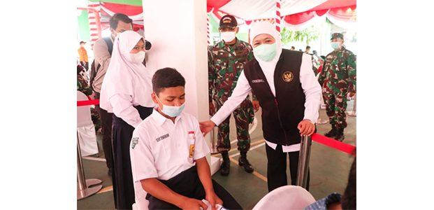Forkopimda Jatim Dampingi 3 Menteri, Pantau Vaksinasi di Padangan Bojonegoro