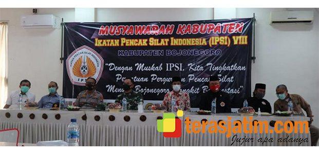 Muskab IPSI Bojonegoro, Kaji Endro dari PSHT Terpilih Jadi Ketua
