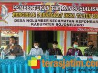 Gong Pengisian Pamong 18 Desa di Kepohbaru Bojonegoro Mulai Ditabuh
