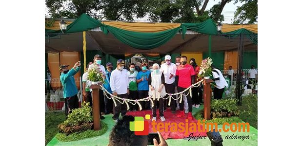 Taman Gajah Bolong, Ruang Terbuka Hijau Ujung Timur Bojonegoro Diresmikan Bupati Anna