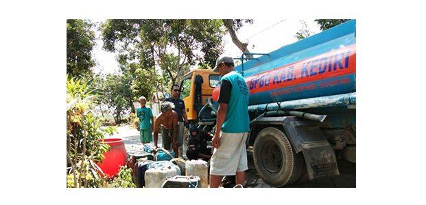 BPBD Kabupaten Kediri Pasok Air Bersih di Wilayah Kekeringan