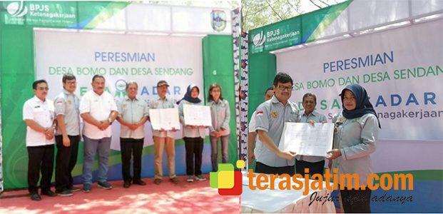 BPJS TK Resmikan Desa Bomo dan Desa Sendang Pacitan Jadi Desa Sadar Jaminan Sosial Ketenagakerjaan
