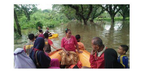 Banjir di Bojonegoro Surut, Ratusan Hektar Lahan Padi dan Rumah Warga Terdampak
