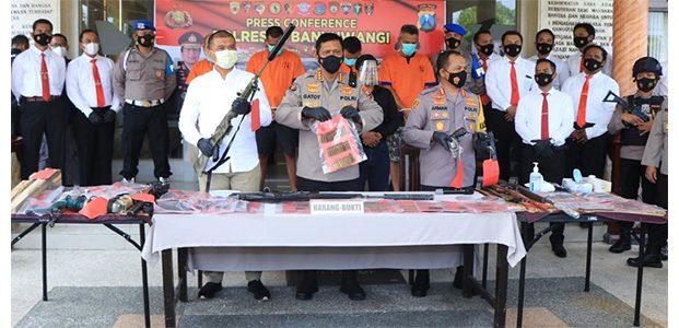 Polisi Ungkap Kasus Pembuatan dan Jual Beli Senpi Rakitan di Banyuwangi