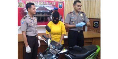 Bawa Kabur Motor Teman Prianya, Janda Seksi Purel Karaoke Ditangkap Polisi