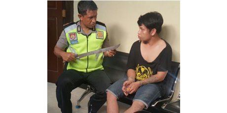 Bawa Pedang Saat Nonton Jaranan, Pemuda Bertatoo asal Mojowarno Jombang Ditangkap Polisi