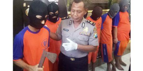 Begal Teman Sendiri, 6 Pria Dibekuk Buser Polres Jombang