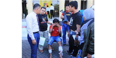 Beraksi di 7 Lokasi, Satu Anggota Komplotan Begal di Surabaya Dilumpuhkan