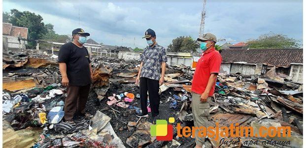 Pasca Kebakaran Hebat, Pedagang Pasar Kepoh Bojonegoro Minta Relokasi