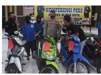 Polisi Bekuk Komplotan Maling Motor Spesialis Area Persawahan di Blitar