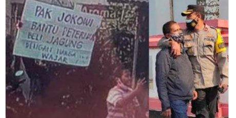 Polisi Sudah Pulangkan Pria Yang Bentangkan Poster Saat Kunjungan Presiden di Blitar