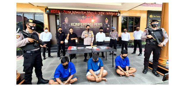 Satreskrim Polres Blitar Kota Tangkap 3 Pelaku Aksi Pemerasan dan Curat