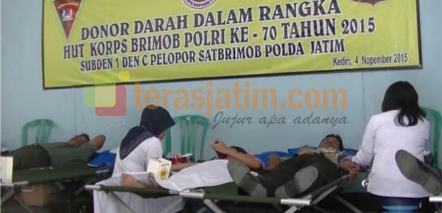 Brimob Kediri Gelar Donor Darah