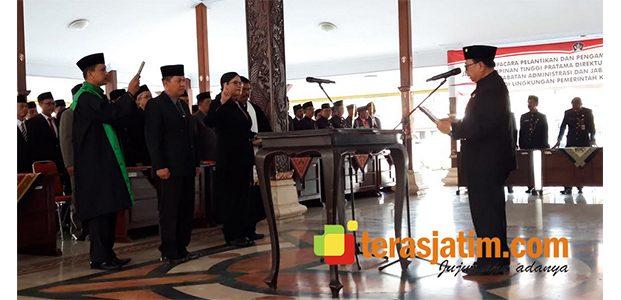 Bupati Blitar Akhirnya Lantik Direktur RSUD Ngudi Waluyo dan Pejabat Administrasi
