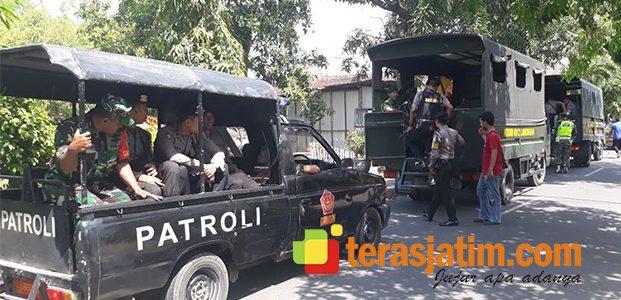 Cegah Aksi Teror, Aparat Keamanan di Lamongan Gencarkan Patroli Gabungan Skala Besar