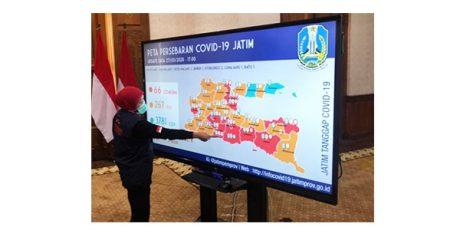 Update Corona di Jatim, 13 Daerah Masuk Zona Merah, 66 Orang Positif Corona