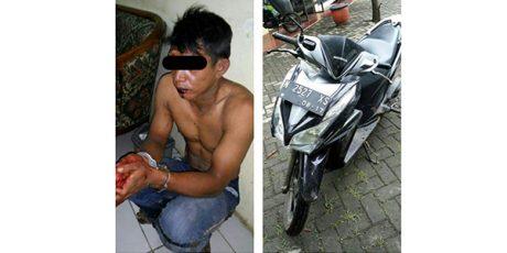 Curi Motor Jamaah Subuh, Pria asal Gondang Wetan Pasuruan Bonyok Dihajar Massa