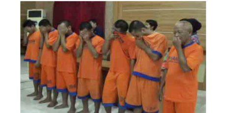 Dalam Sepekan, Polres Kediri Amankan 8 Pelaku Pencabulan