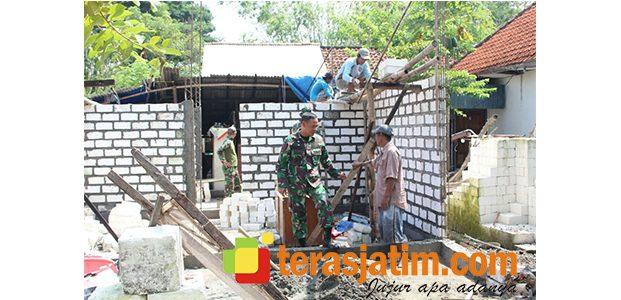 Dandim Lamongan Cek Langsung Pembangunan RTLH di 3 Kecamatan