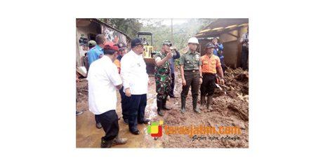 Danrem Baladhika Jaya Tinjau Lokasi Banjir Bandang di Probolinggo