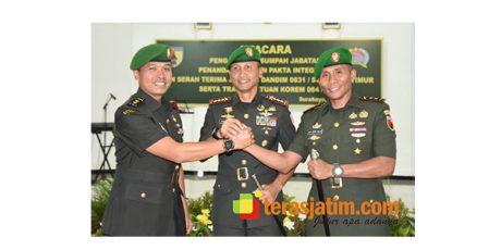 Danrem Bhaskara Jaya Pimpin Sertijab Dandim Surabaya Timur