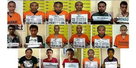 Dari 17 Tahanan Polres Malang Yang Kabur, 9 Sudah Tertangkap