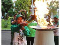 Dari Tuban, Hari Ini Obor Api Porprov Sambangi Lamongan dan Gresik